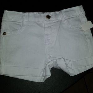 7 for all mankind white denim shorts
